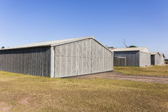 Metal Warehouse Storage Buildings Royalty Free Stock Photo