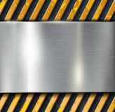 Metal warning  background Stock Images