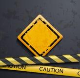Metal warning sign Stock Image