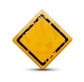 Metal warning sign Stock Images