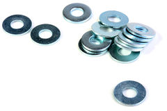 Metal washers Stock Images