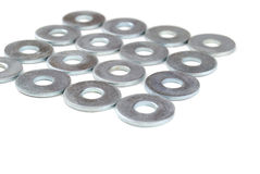 Metal washers Royalty Free Stock Images