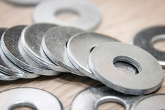 Metal washers Stock Photos