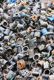 Metal Waste. Auto parts production process defects, recycling processing recycling royalty free stock photo