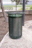 Metal waste bin Stock Photo