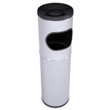 Metal waste bin. Isolated render on a white background Royalty Free Stock Photography