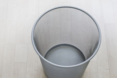 Metal waste paper basket Stock Photo