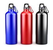 Metal water bottles Royalty Free Stock Photos