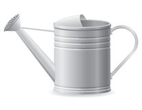 Metal watering can vector illustration Stock Photo