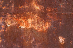 Metal weathered painted surface Royalty Free Stock Photo