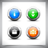 Metal web buttons. Vector eps10. Stock Photos