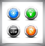 Metal web buttons. Vector eps10. Stock Photography