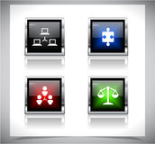 Metal web buttons. Vector eps10. Royalty Free Stock Photography