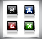 Metal web buttons. Vector eps10. Royalty Free Stock Photos