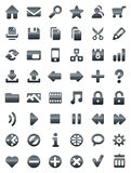 Metal web and multimedia icons