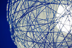 Metal web sphere background Stock Image