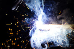 Metal welding Stock Photo