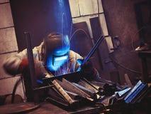 Metal welding Stock Image