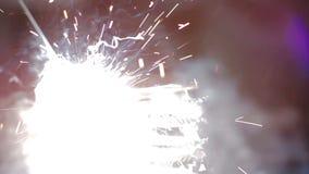 Metal welding process stock footage