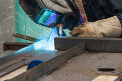 Metal welding Royalty Free Stock Photos