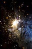 Metal welding sparks Stock Images