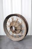 Metal wheel from antique automobile, Stock Photos
