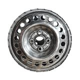 Metal wheel isolated stock images