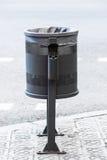 Metal wheelie bin Stock Images