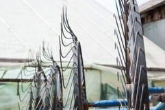 Metal wheels Stock Images