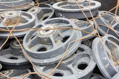 Metal wheels Royalty Free Stock Image