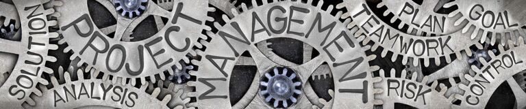 Free Metal Wheels With Project Management Concept Royalty Free Stock Image - 171185806