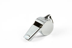 Metal whistle Royalty Free Stock Image