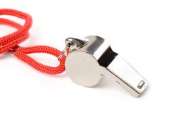 Metal Whistle royalty free stock photography