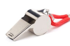 Metal Whistle Royalty Free Stock Photo