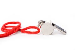 Metal Whistle Stock Photography