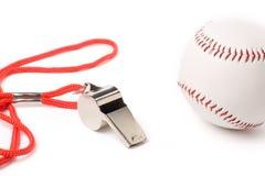 Metal Whistle and Baseball Stock Photos