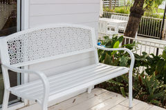 Metal white chair Stock Photography