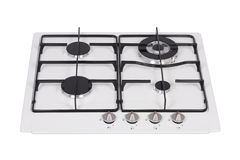 Metal white hob Royalty Free Stock Photos
