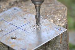 Metal wiertnicza maszyna Obraz Stock