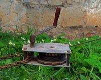 metal winch closeup outdoors Stock Images