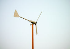 Metal wind turbine model Royalty Free Stock Images