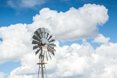 Metal windmill in America Royalty Free Stock Image