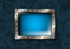 Metal window with rivets Stock Photography