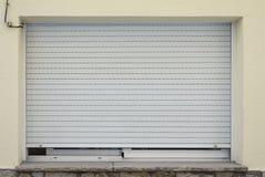 Metal window shutter closed Stock Photos