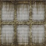 Metal window surface Royalty Free Stock Photography