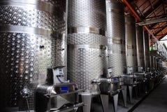 Metal Wine Barrels. In Napa California Royalty Free Stock Photo