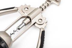 Metal wine corkscrew  Stock Images