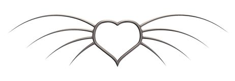 Metal wings heart Stock Images
