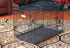 Metal Wire Dog Crate Royalty Free Stock Photography