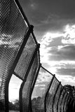 Metal wire fence Royalty Free Stock Image